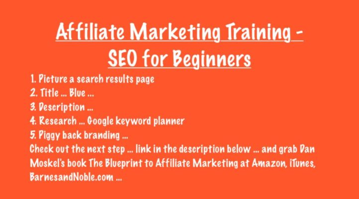 Affiliate Marketing Training - SEO for Beginners