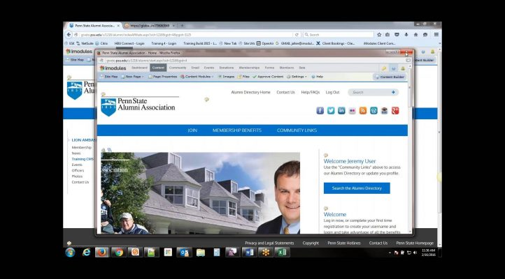 Affiliate Group CMS iModules Training Video