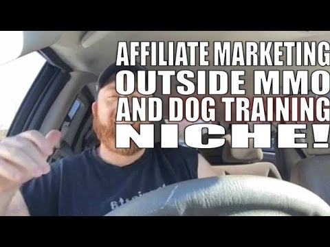 Affiliate Marketing outside of MMO and Dog Training Niche