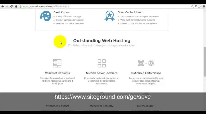 Siteground affiliate program and marketing materials overview
