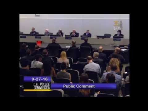 Activists Intimidate Civilian at LAPD Commission Meeting