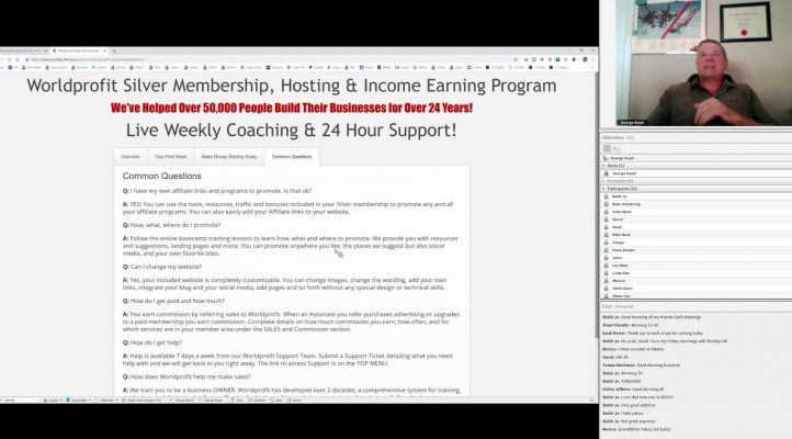 Home Business & Affiliate Marketing Training with George Kosch for 7 December 2018