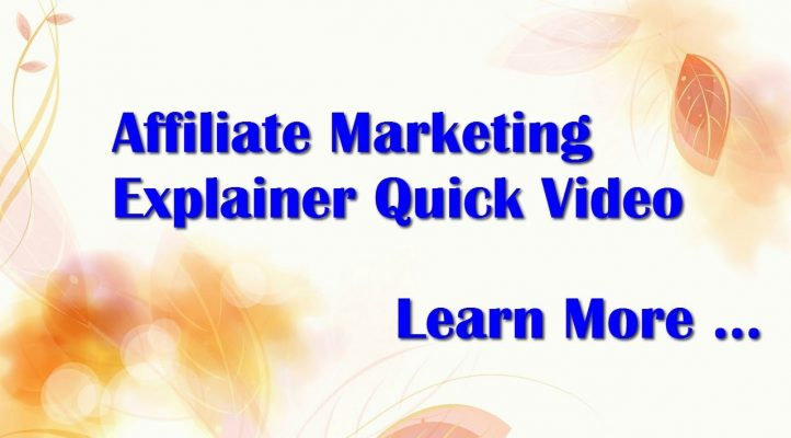 Affiliate Marketing Explainer Quick Video