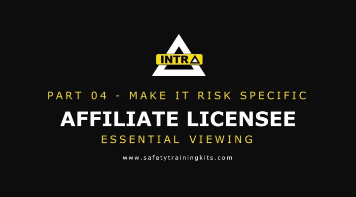 04 AFFILIATE  - Make your training RISK Specific