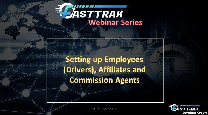 3. System Setup: Employees (Drivers), Affiliates and Commission Agents